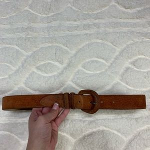 Vintage Land's End Genuine Pig Suede Belt